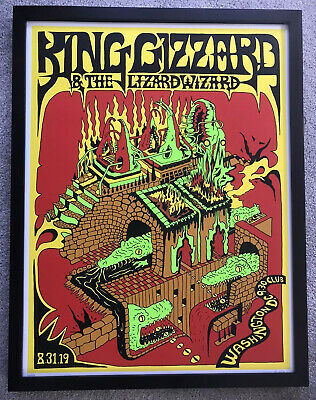 King Gizzard And The Lizard Wizard Washington D.C. Poster Signed Numbered 14/100