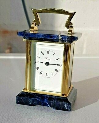 Miniature Henley Onyx and Brass Carriage clock