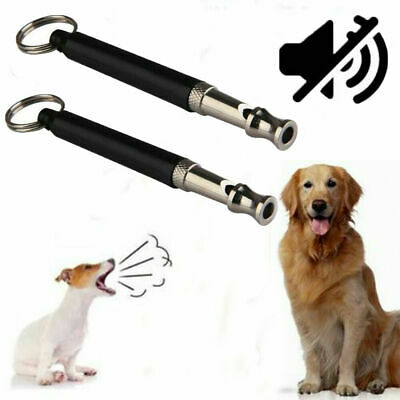 Dog Obedience Training Whistle UltraSonic Adjustable Pitch Volume Clicker Puppy