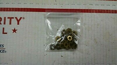 Western Electric Telephone LOT finger wheel (25) BRASS Dial Nuts