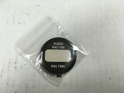 western electric telephone BRASS dial card retainer ring (PLEASE WAIT dial tone)