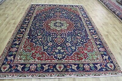 An Outstanding Handmade Persian Blue Carpet 10 X 7 Foot