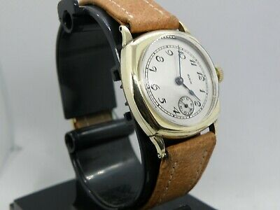 ELGIN *ART DECO *  SERVICED 1920`s    ETCHED MEN`S WATCH...EXTREMELY STUNNING