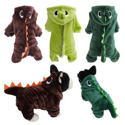 Halloween Cute Pets Dog Puppy Hoodie Clothes Cosplay Party Dinosaur Costume Fun