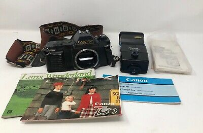 Canon T50 Body Bundle - Includes Manuals And Flash - Vintage