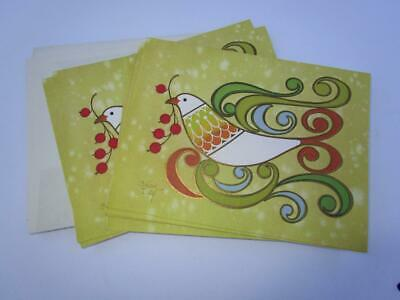 Vintage Mid Century Brian Day Christmas Dove Greeting Card Lot of 9 TV Allen Co