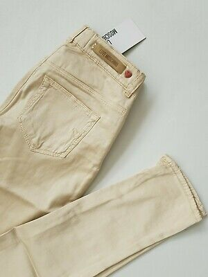 Women's Moschino satin strech skinny trousers champagne Color Size 25 / 28 BNWT