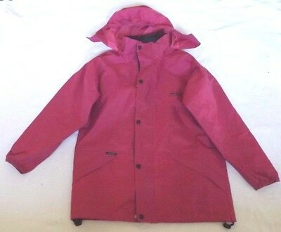 """Peter Storm Fuchsia Childs 11-12 Years Chest 40"""" Waterproof Jacket With Hood"""