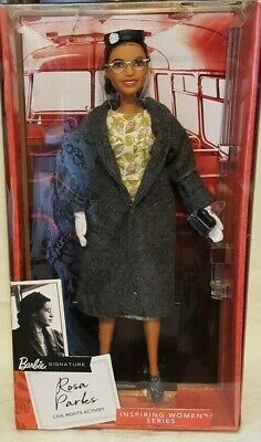 BARBIE Signature ROSA PARKS Doll Accessories Inspiring Women Series 2019 New