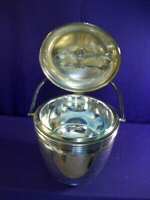 Vintage Sheffield Silver Co. THERMOS LINED Ice Bucket