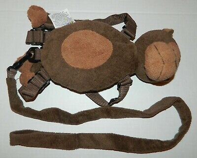 GOLD BUG Children's Brown MONKEY Backpack Harness Leash Safety