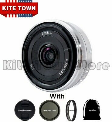 16mm f/2.8 Wide-Angle E-Mount Lens for Sony SEL16F28 NEX Series Cameras
