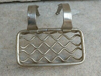 Antique Victorian Chrome Soap Sponge Holder Rack Claw Foot Bath Tub Unusual