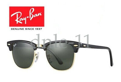 Ray Ban Clubmaster Classic Black RB3016 W0365 51mm Rayban Sunglasses
