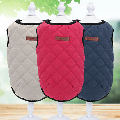 Dog Vest Winter Coat Cotton Warm Dog Jacket Apparel for Small Medium Dogs Cats