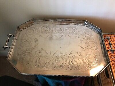 Antique  Mappin & Webb's Prince's Plate Silver Tray, London & Sheffield, W12271