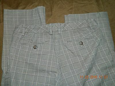 Gap Women's Pants Brown Plaid Straight Stretch Dress Career 6 Ankle