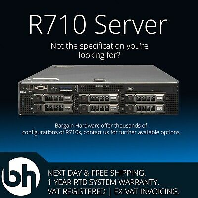 "Dell R710 Large Form Factor 3.5"" Cheap Low-Power Storage Server Quad Core Xeon"