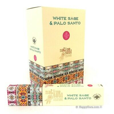 """White Sage & Palo Santo"" (Native Soul) Green Tree Masala Incense Sticks 180g"