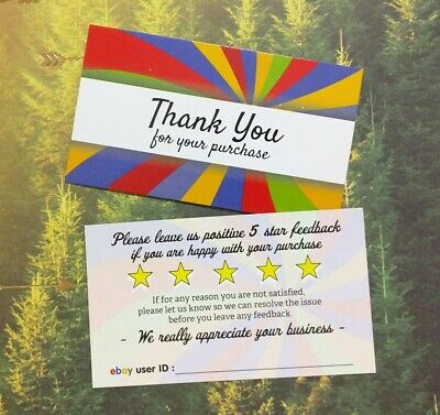 250 500 Thank You Cards // Notes for Sellers 50 /& 1000 Sets of 10 100