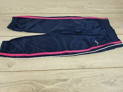 Donnay Poly Tracksuit Bottoms Girls Size 2 - 3 yrs Trousers Pants Navy R252-2