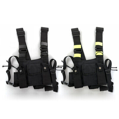 Front Vest Bag Outdoor Walkie Talkie Nylon Oxford 18*21cm Pouch Holster