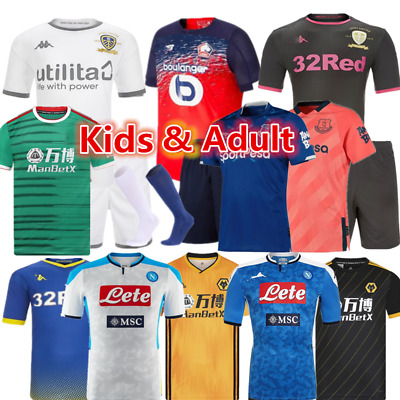 Custom Youth Football Kit Kids Boys Children Soccer Sports Jerseys Strips Outfit