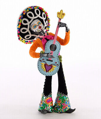 Day Of The Dead Guitar Player Musician Figurine Halloween Katherine's Collection