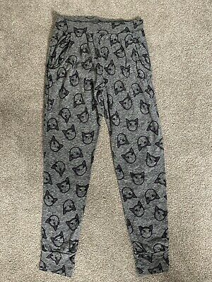 Girls Next Cat Print Harem Trousers Age 8 Years