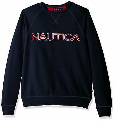 Nautica Men's Long Sleeve Solid French Rib Crew Ne - Choose SZ/color