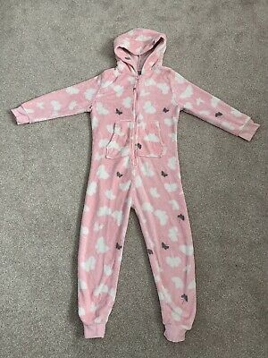 Girls Next All In One Sleepsuit Age 9 Yrs Pink Butterflys