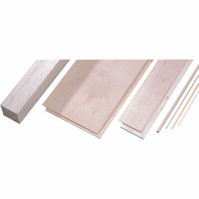 Modelcraft 500 x 250 x 3 Birch Plywood Sheets 250 x 500 x 3mm Pack of 2