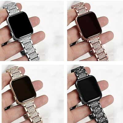 Bling Crystal Diamond Rhinestone Band Wrist Watch Strap For Apple Watch iwatch
