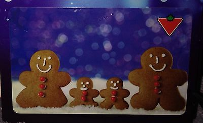 """Canadian Tire """"Gingerbread Family"""" 2015 Gift Card No Value New Xmas"""