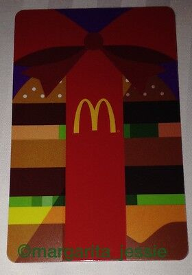 """McDonald's 2015 ARCH/GIFT CARD """"BURGER"""" Holiday Limited Edition NO VALUE NEW"""