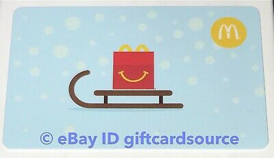 Mcdonald's Arch/Gift Card Holiday 2017 Happy Meal On Sled Canada No Value New