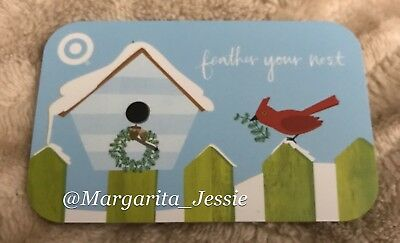 Target 2006 Gift Card Feather Your Nest Red Cardinal No Value New