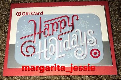 """Target 2016 Gift Card """"Happy Holidays"""" No Value New Collectible"""