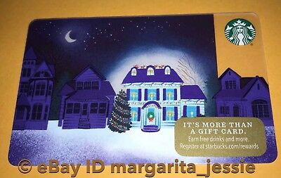 "Starbucks Us Gift Card ""Up On The Roof"" 2017 Holiday House No Value New #6142"