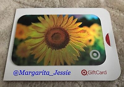 Target 2004 Foil Gift Card Sun Flowers No Value New