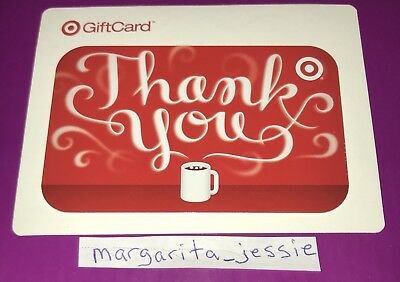 "Target Gift Card 2008 Thank You ""Coffee Aroma"" Collectible No Value New"