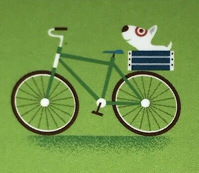 Target Gift Card 2016 Bullseye Dog Riding In Bicycle Basket  No Value New