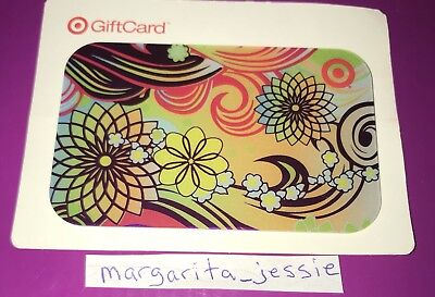 Target Foil Gift Card 2008 Retro Flower Swirls Collectible No Value New