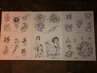 Special Vintage Picture Machine B&W Tattoo Flash #1 thru 308 Spaulding & Rogers