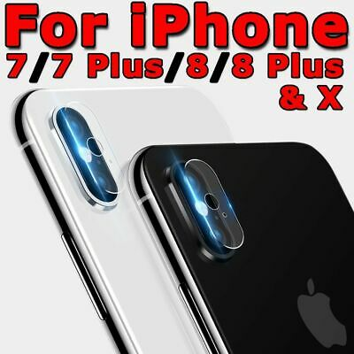Back Camera Lens Tempered Glass Screen Protector For Apple iPhone 6 7 8 Plus X