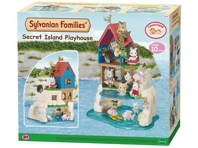 Sylvanian Families Secret Island Playhouse Holiday House 10 Pieces Connectable