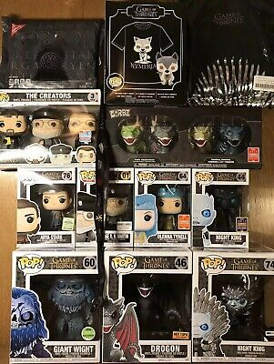 Giant Game of Thrones Funko Pop! LOT   — RARE Exclusives (Arya Nymeria Oreos ++