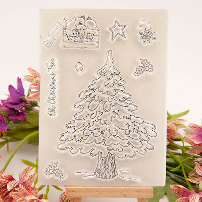 Silicone Clear Stamp Rubber Stamps DIY Scrapbook Christmas tree Baubles TW