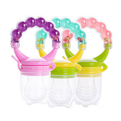 HB- Baby Teether Fruit Feeder Infant Fresh Food Pacifier Silicone Teething Nibbl