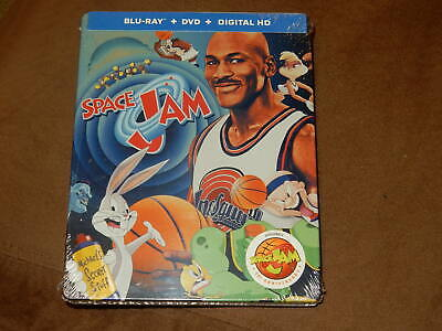 "Brand New ""Space Jam"" Blu-Ray/Dvd/Digital 20Th Anniversary Steelbook Jordan"